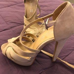 ALDO Nude Strappy heels suede